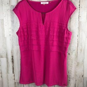 Calvin Klein Pink Sleeveless Blouse Size Medium